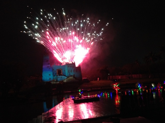 The Fireworks and Laser show at Fantastique for the closing ceremony.