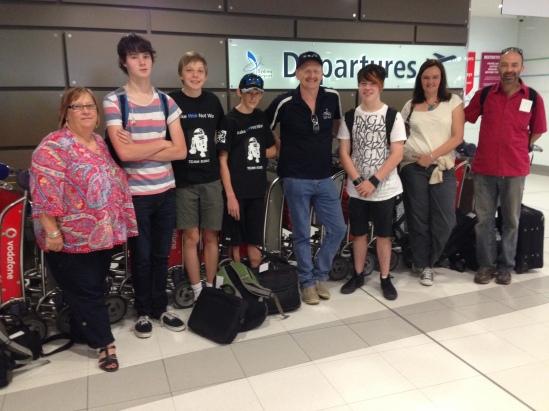 Departing Sydney